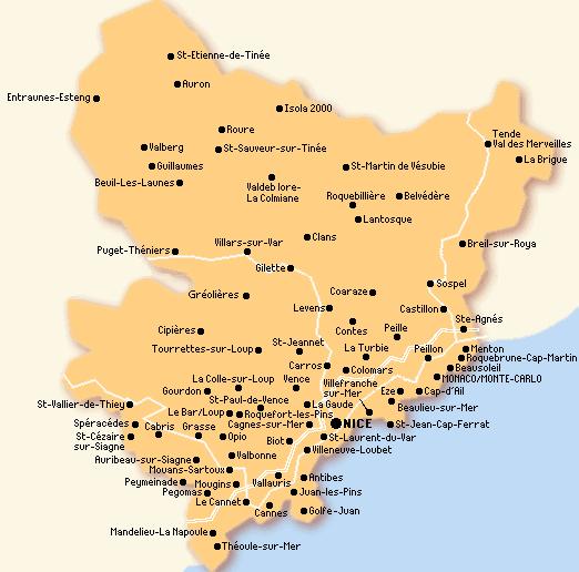 carte departement 06